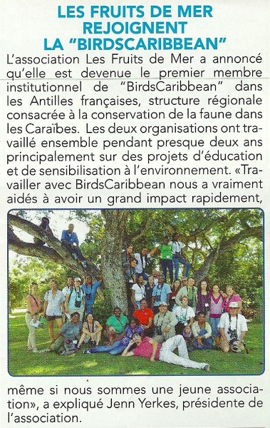 FaxInfo-Les-Fruits-de-Mer-joins-BirdsCaribbean