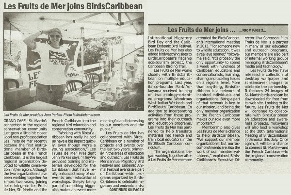 Today-Les-Fruits-de-Mer-Joins-BirdsCaribbean-web