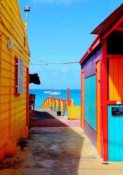 "The ""Vulnerable"" photo from Alexandre Guerre's winning entry captures the bright colors of the island's traditional architecture. Photo by Alexandre Guerre."