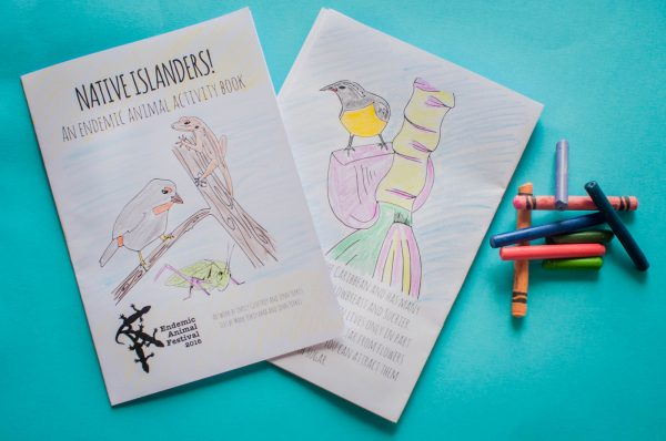 Fun native animal activity books will be given away free at Sunday's Endemic Animal Festival.